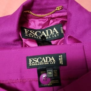 ESCADA CASHMERE AND WOOL JACKET AND PANT SET 36